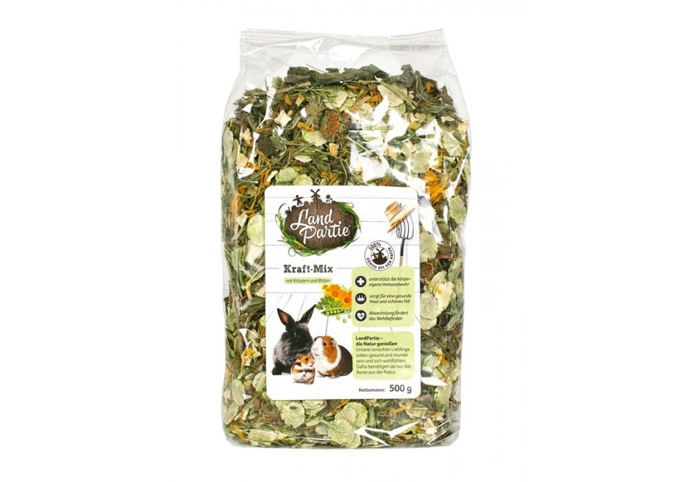 Kraft-Mix 500g mit Kräutern und Blüten