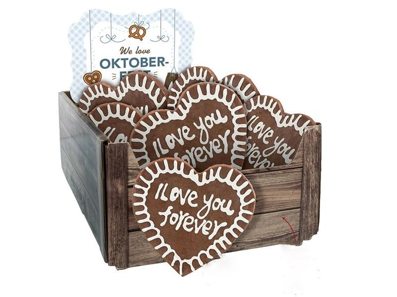 TRIXIE Lebkuchenherzen 15cm zum Oktoberfest lose (92751)