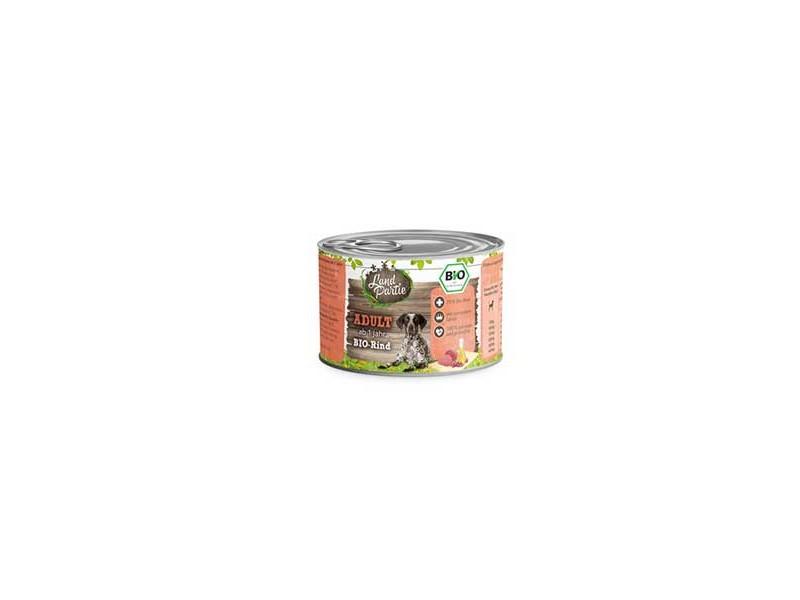 LandPartie Bio Hund Adult 200g Dose mit Bio-Rind und Zucchini (812179)
