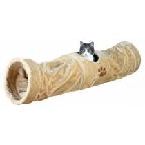 TRIXIE Spieltunnel Plüsch ø 25 × 125 cm beige Katze (43001)