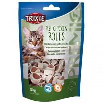 TRIXIE PREMIO Fish Chicken Rolls 50g Snack Katze (42702)