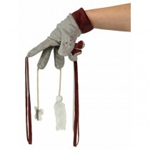 Handschuh mit Spielzeugen