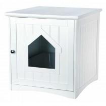 TRIXIE Katzenhaus weiß für Katzentoiletten 49x51x51cm (40290)