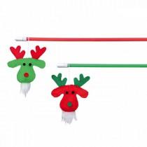 TRIXIE Weihnachtsspielzeug Spielangel Rentiere 43cm