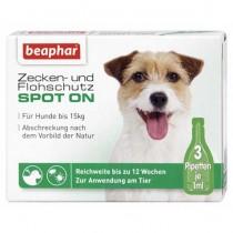 beaphar SPOT-ON Zecken- & Flohschutz Hund bis 15kg 3x1ml