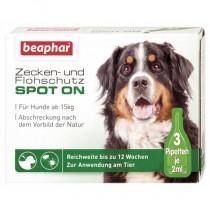 beaphar SPOT-ON Zecken- & Flohschutz Hund ab 15kg 3x2ml
