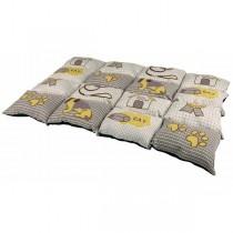 Decke Patchwork 100x70cm taupe/beige