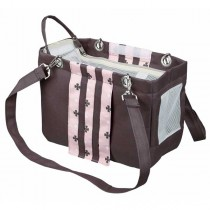 TRIXIE Tasche Fina taupe/rosa (14 × 20 × 26 cm)