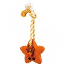 TRIXIE Weihnachtsspielzeug Sterne am Tau 33cm Latex (92481)