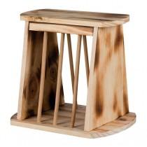 Heuraufe Holz geflammt