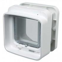SureFlap Dual Scan 4-Wege Freilauftür mit Mikrochip-Erkennung weiß (21 × 21 cm)