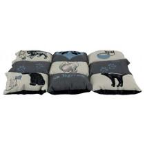 TRIXIE Decke Patchwork Cat grau/hellblau 55x45cm