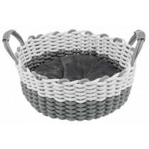 TRIXIE Korb Nabou Baumwolle grau/weiß ø 45 cm