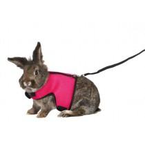 TRIXIE Softgeschirr mit Leine Kaninchen 25-32cm (61513)