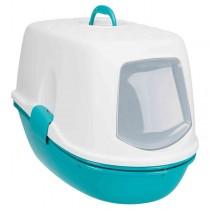 TRIXIE Katzentoilette Berto Top türkis/weiß mit Trennsystem (40163)