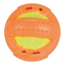 TRIXIE Hundespielzeug Ring mit Tennisball 9cm TPR (33440)