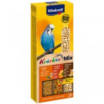 Vitakraft Kräcker® Mix + Honig / Orange / PopCorn Wellensittich 3St./80g (21239)