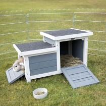 TRIXIE natura Kleintierhaus grau/weiß zwei Eingänge (62390)