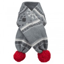 TRIXIE Weihnachtsschal grau/rot Hund