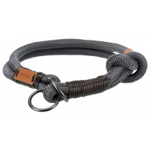 TRIXIE BE NORDIC Zug-Stopp-Halsband dunkelgrau/braun