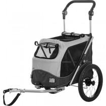 TRIXIE Fahrradanhänger S,M und L grau/schwarz bis 30kg