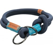 Zug-Stopp-Halsband dunkelblau/hellblau
