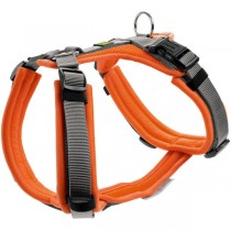 HUNTER Geschirr Maldon orange grau XS - L