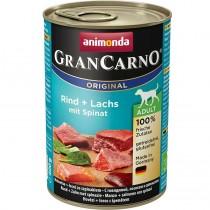 Rind+Lachs mit Spinat