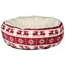 TRIXIE Xmas Bett 50cm Santa rot creme Hund