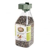 LandPartie Wildvogel nachfüllbarer Futterspender gefüllt mit Meisenfutter 500g