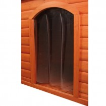 TRIXIE Kunststofftür für Flachdach Hundehütte in S-M, M-L und L