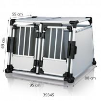 TRIXIE Transportbox Aluminium doppelt 95x69x88cm