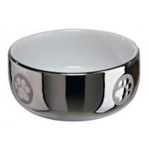 Keramiknapf Katze 0,3 l/11 cm silber/weiß