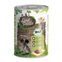 LandPartie Bio Hund Adult 400g Dose mit Bio-Ente und Kürbis