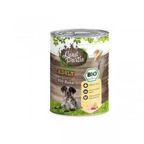 LandPartie Bio Hund Adult 800g Dose mit Bio-Huhn und Karotte