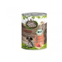 LandPartie Bio Hund Adult 800g Dose mit Bio-Rind und Zucchini