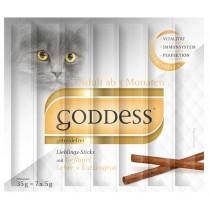 GODDESS Adult Lieblings-Sticks für Katzen 7 Stück mit Geflügel, Leber und Katzengras