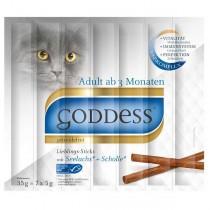 GODDESS Adult Lieblings-Sticks für Katzen 7 Stück mit Lachs und Scholle