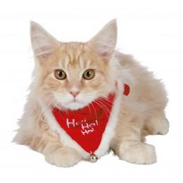 TRIXIE Weihnachts-Halsband mit Tuch Necki Katze