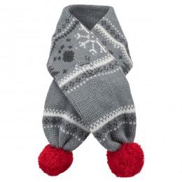TRIXIE Weihnachtsschal grau/weiß Hund
