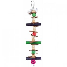 TRIXIE Holzspielzeug mit Tau, Leder und Perlen 28cm (58984)