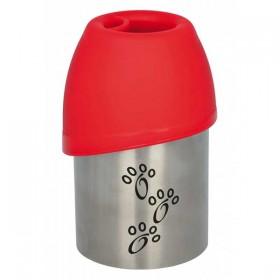 TRIXIE Flasche mit Trinknapf Edelstahl
