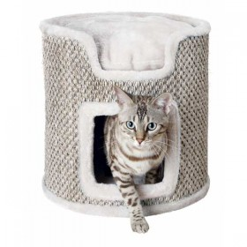 TRIXIE Cat Tower Ria ø 37 cm/ 37cm lichtgrau/natur (44706)