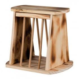 TRIXIE Heuraufe Holz geflammt 25×22×18 cm (61193)