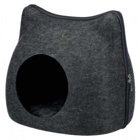 TRIXIE Kuschelhöhle Cat anthrazit Filz 38×35×37cm (36318)