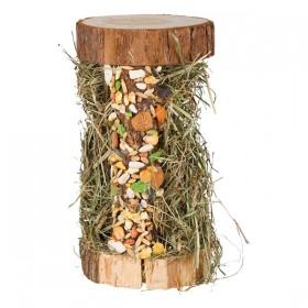 TRIXIE Holzturm mit Heu und Snacks (60198)