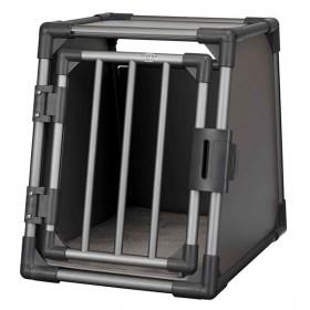 TRIXIE Transportbox Aluminium grafit S 48x56x61cm (39335)