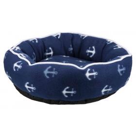 TRIXIE Bett Barry 50cm blau Ankermotiv Hund/Katze (36529)