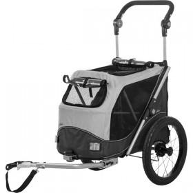 TRIXIE Fahrradanhänger M grau/schwarz bis 22kg (12796)