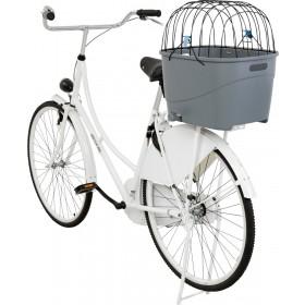 TRIXIE Fahrradkorb für Gepäckträger Kunststoff grau (13115)